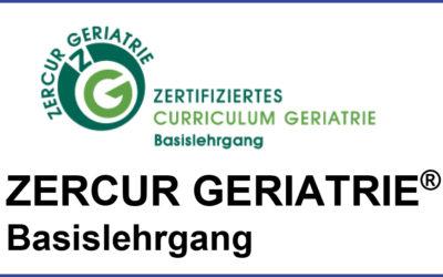 Jetzt anmelden- Basislehrgang ZERCUR GERIATRIE® 2020